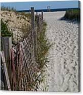 A Wonderful Beachday On Cape Cod Canvas Print