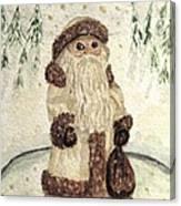 A Woodland Santa Canvas Print
