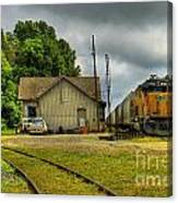 A Workhorse At The Madison Station Canvas Print