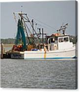Seadrift Texas Working Boat Canvas Print
