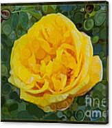 A Yellow Rose Abstract Painting Canvas Print