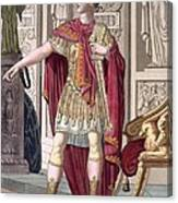 A Young Emperor In His Imperial Armour Canvas Print