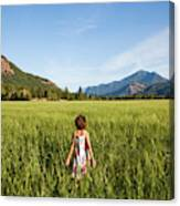 A Young Girl, Daughter Of A Farmer Canvas Print