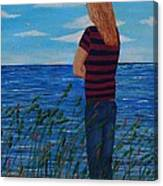 A Young Girl Dreaming Canvas Print