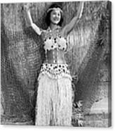 A Young Hawaiian Hula Woman Canvas Print