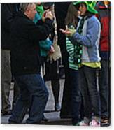 A Young Lady Posing During The 2009 New York St. Patrick Day Parade Canvas Print