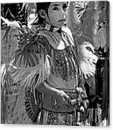 A Young Warrior - B W Canvas Print