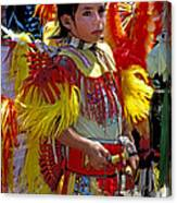 A Young Warrior Canvas Print