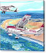 Cessna 206 And A1a Husky Canvas Print