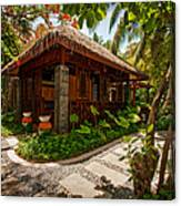 Aaramu Spa Hideaway In Tropical Garden. Maldives Canvas Print