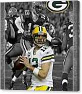 Aaron Rodgers Packers Canvas Print