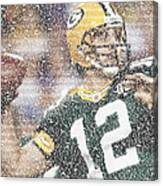 Aaron Rodgers Quotes Mosaic Canvas Print