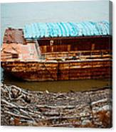 Abandoned Barge Canvas Print