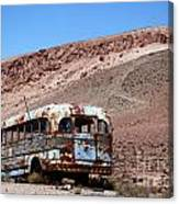 Abandoned Bus In The Atacama Desert Canvas Print
