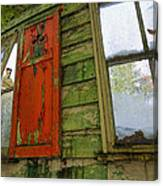 Abandoned Cabin Elkmont - Coming Down Clover Canvas Print