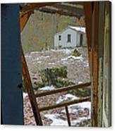 Abandoned Cabin Elkmont Smoky Mountains - Screened Door Old House Canvas Print