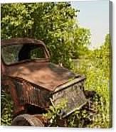 Abandoned Car Canvas Print
