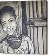 Abandoned Charcoal Canvas Print