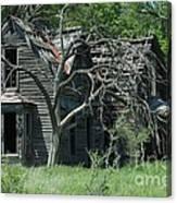 Abandoned Country Kansas Farm House Canvas Print