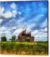 Abandoned Farm 03 Photo Art Canvas Print
