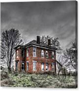Abandoned Farmhouse Before The Storm Canvas Print