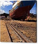 Abandoned Fishing Ship Canvas Print