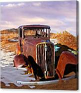Abandoned For Almost 100 Years On Route 66 Canvas Print