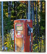 Abandoned Gas Pump Canvas Print