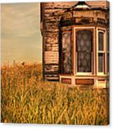 Abandoned House In Grass Canvas Print