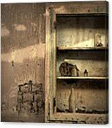 Abandoned Kitchen Cabinet Canvas Print
