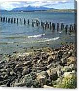Abandoned Old Pier In Puerto Natales Chile Canvas Print