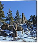 Abandoned On The Mountain Canvas Print