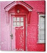 Abandoned Pink And Red House Canvas Print