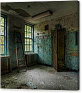 Abandoned Places - Asylum - Old Windows - Waiting Room Canvas Print