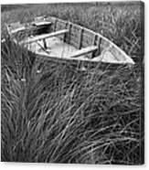Abandoned Row Boat Along The Shoreline On Prince Edward Island Canvas Print
