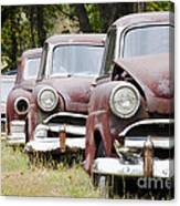 Abandoned Rusted Cars Canvas Print