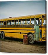 Abandoned School Bus Canvas Print