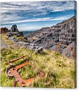Abandoned Slate Quarry Canvas Print