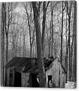 Abandoned Sugar Shack In Black And White Canvas Print