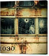 Abandoned Train Car Canvas Print