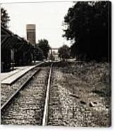 Abandoned Train Station Canvas Print