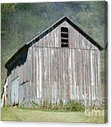 Abandoned Vintage Barn In Illinois Canvas Print