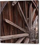 Abandoned Wagon Wheel Canvas Print