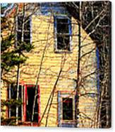 Abandoned Yellow House Canvas Print
