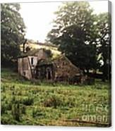 Abandoned Yorkshire House  Canvas Print