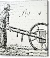 Abbe Soumille's Seed Drill Canvas Print