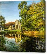 Abbey Lake Autumn Canvas Print
