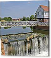 Abbey Mill And Weir Canvas Print