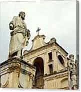 Abbey Statues Canvas Print