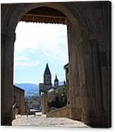 Abbey Through Doorway - Cluny Canvas Print